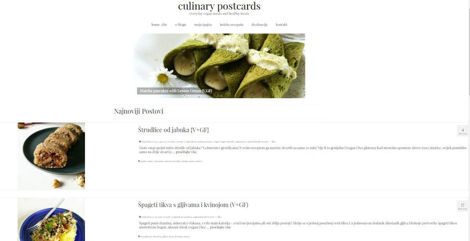 | Author: Culinary postcards